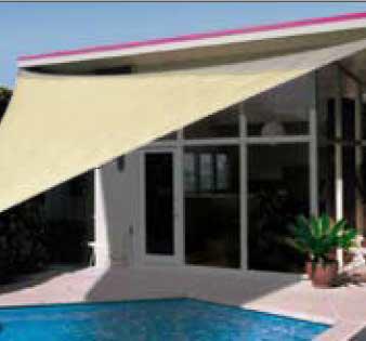 sonnensegel dreieckig 4m x 4m x 4m nur 89 95 ebay. Black Bedroom Furniture Sets. Home Design Ideas